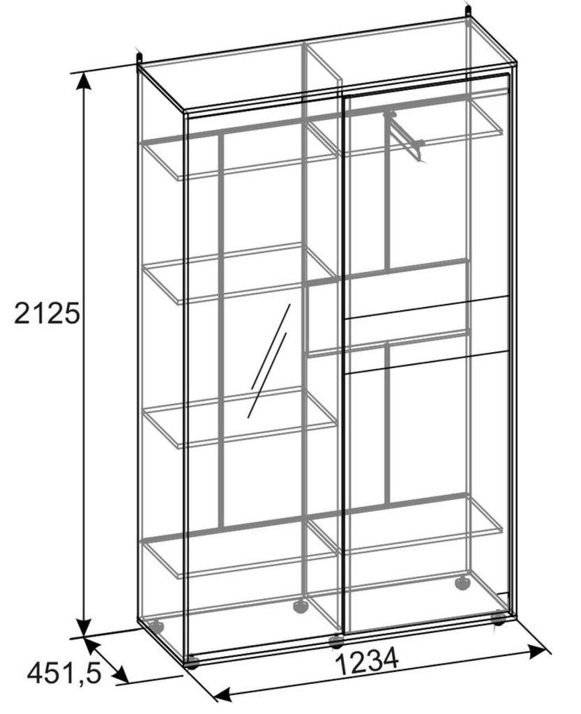 Шкафы купе: Шкаф-купе Норвуд 303 в Стильная мебель