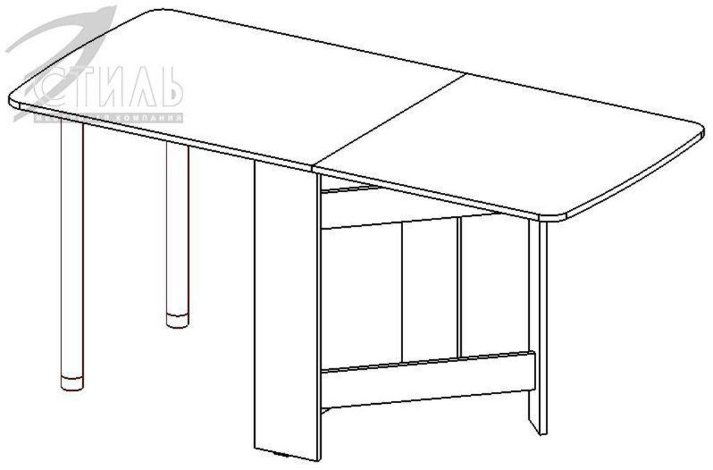 Столы: Стол обеденный №3 (Трансформер) в Диван Плюс