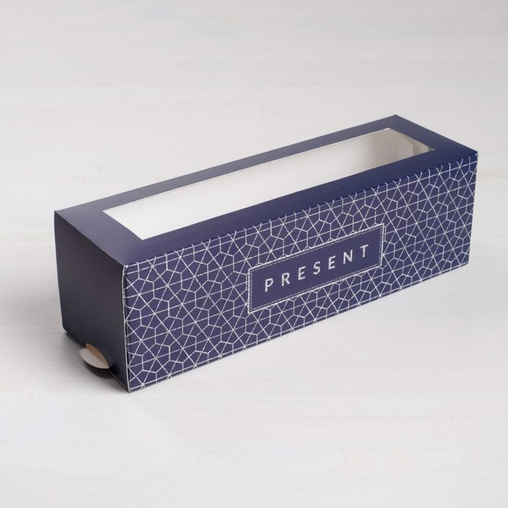 Коробки для макарон: Коробка складная Present 18 х 5,5 х 5,5 см. в ТортExpress