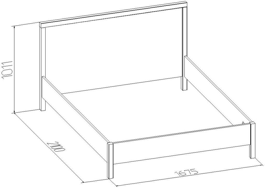 Кровати: Кровать BAUHAUS 2 (1600, орт. осн. дерево) в Стильная мебель
