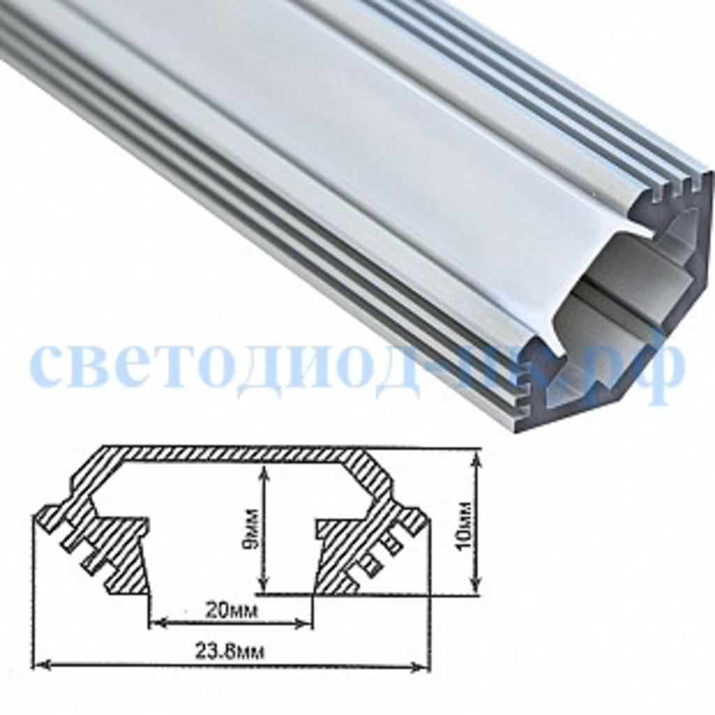 Алюминиевый профиль: Профиль для светодиодной ленты CAB272 в СВЕТОВОД