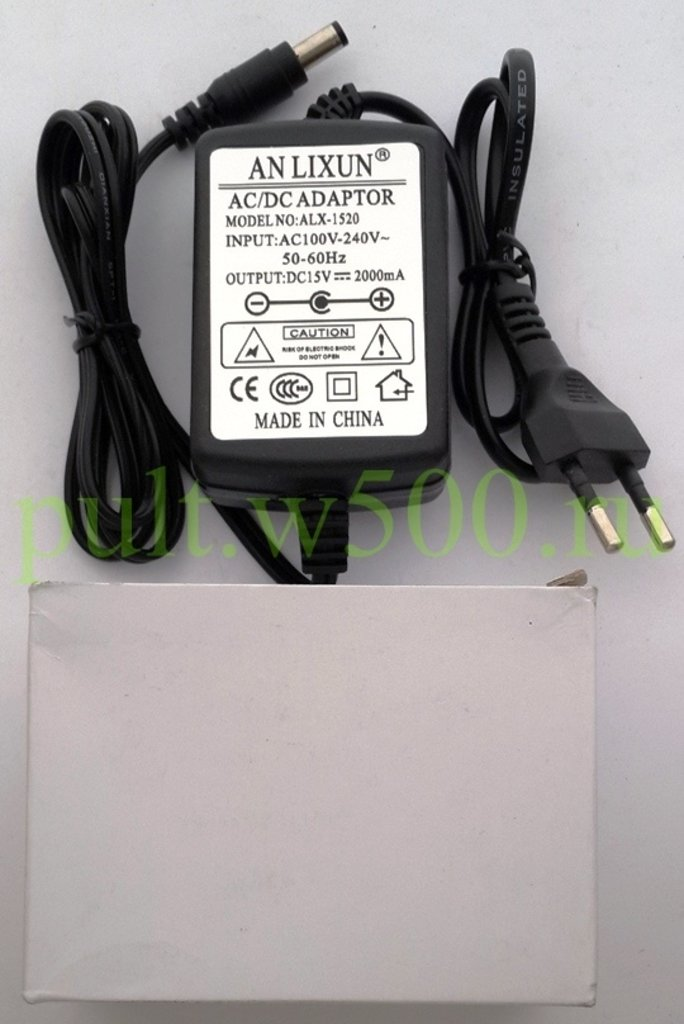 Блоки питания импульсные: Блок питания импульсный  15В 2,0А настольный, с сетевым шнуром, штекер 2.5*5.5 ( ANLIXUN ALX-1520 ) коробка в A-Центр Пульты ДУ