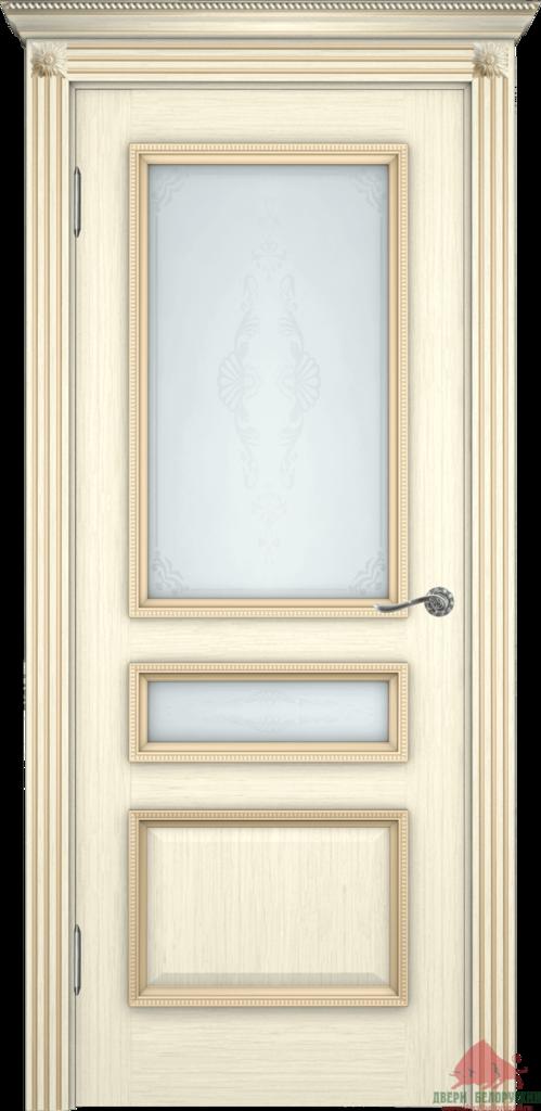 Двери Белоруссии  шпонированые: Вена (слоновая кость) в STEKLOMASTER