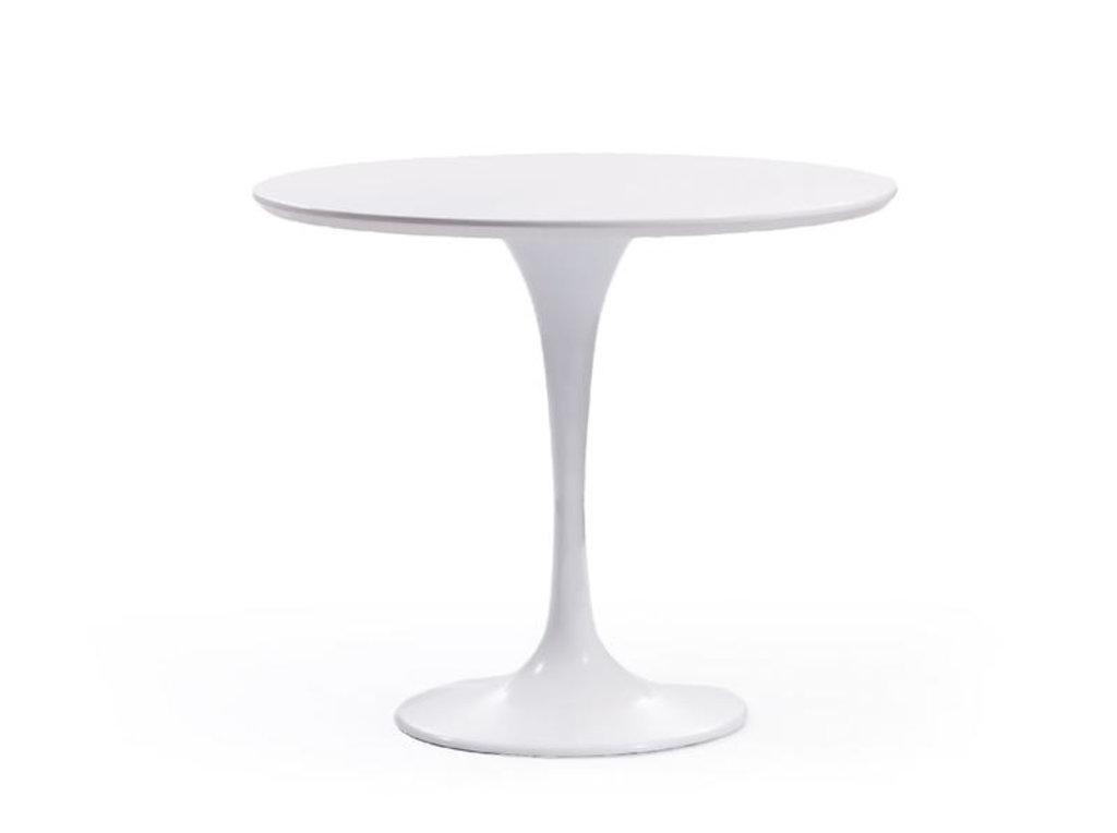 Столы обеденные: Стол обеденный Априори T круглый 90 см в Актуальный дизайн