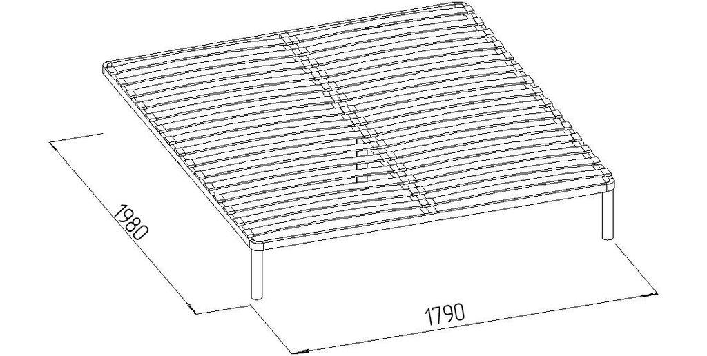 Кровати: Кровать Марсель 31 (1800, орт. осн.  металл) в Стильная мебель