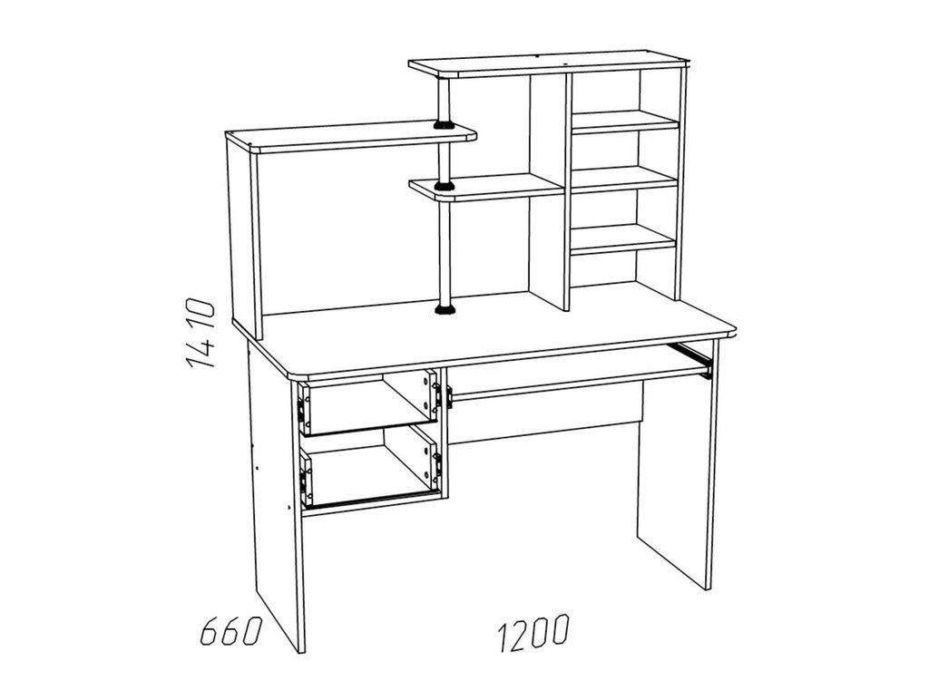 Компьютерные столы: Стол для компьютера НМ 011.77 Рико в Стильная мебель