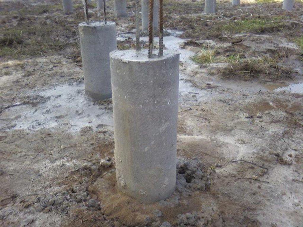 Бетонные работы-фундамент: Буронабивные сваи (работа +материал) в А-Строй