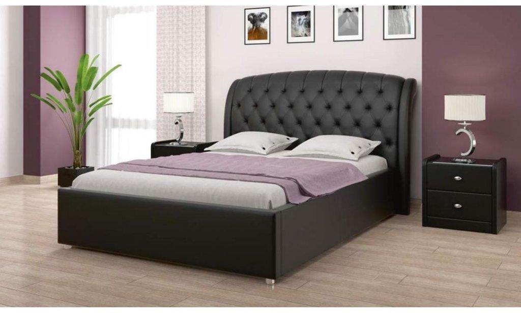 Кровати: Кровать двойная из экокожи Ева в Уютный дом