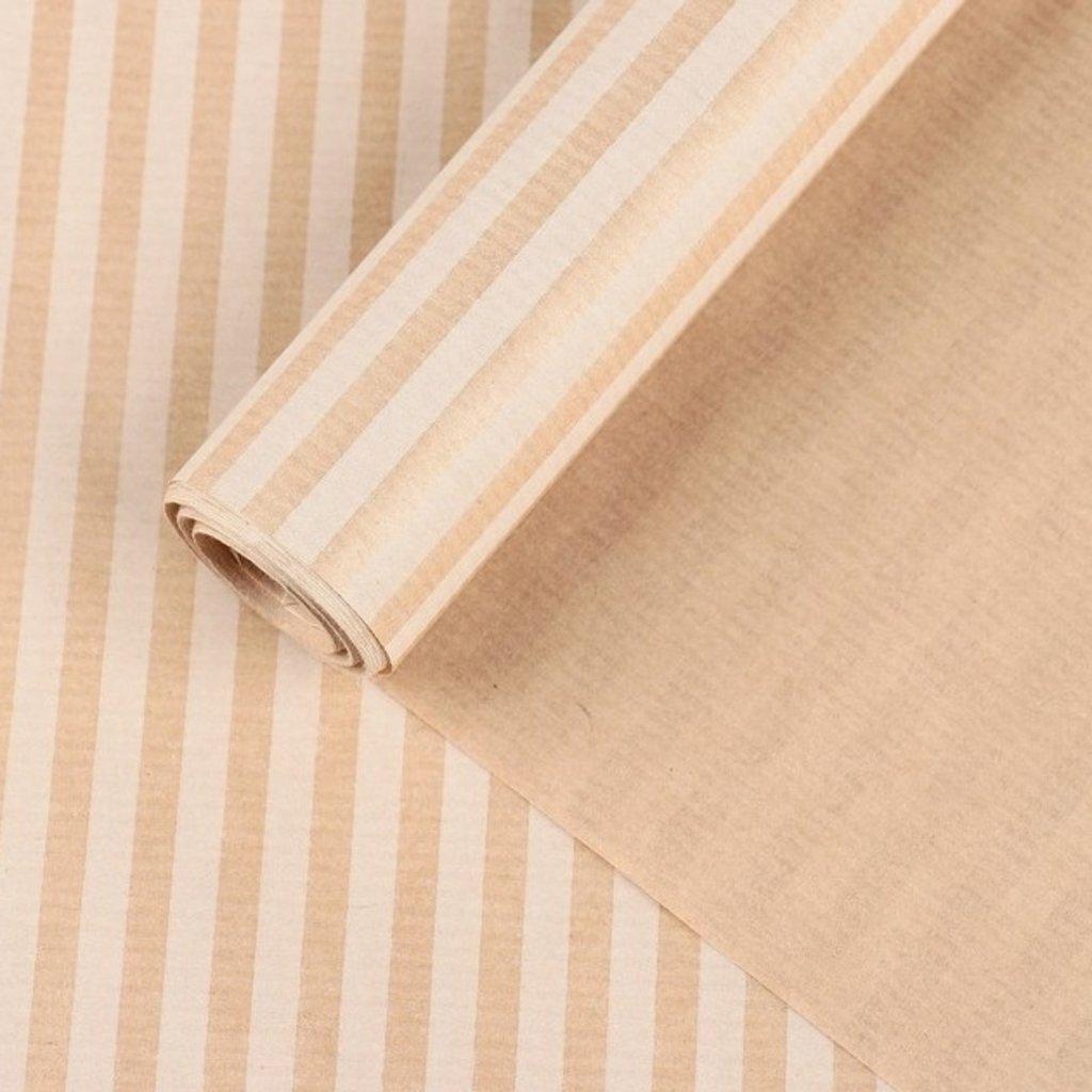 "Упаковочная бумага: Бумага упаковочная крафт ""Полосы белые"", 0,7 х 10 м, 40 г/м² в ТортExpress"