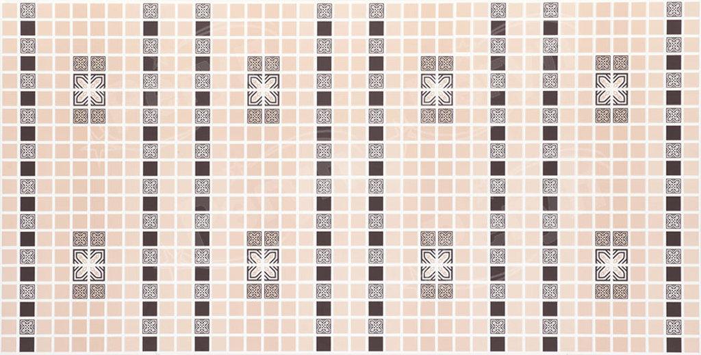 Панели ПВХ: Мозаика Орнамент коричневый в Мир Потолков