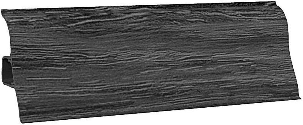 Плинтуса напольные: Плинтус напольный Ecoline 137 черное серебро в Мир Потолков