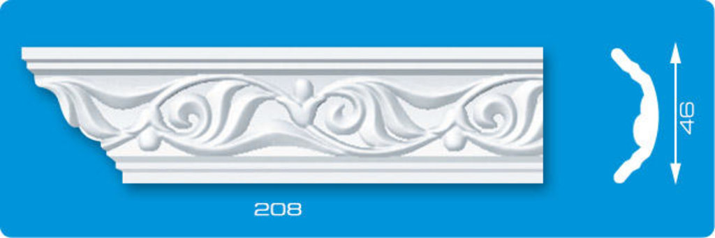 Плинтуса потолочные: Плинтус потолочный ЛАГОМ Ламинированный 208 экструзионный длина 2м в Мир Потолков