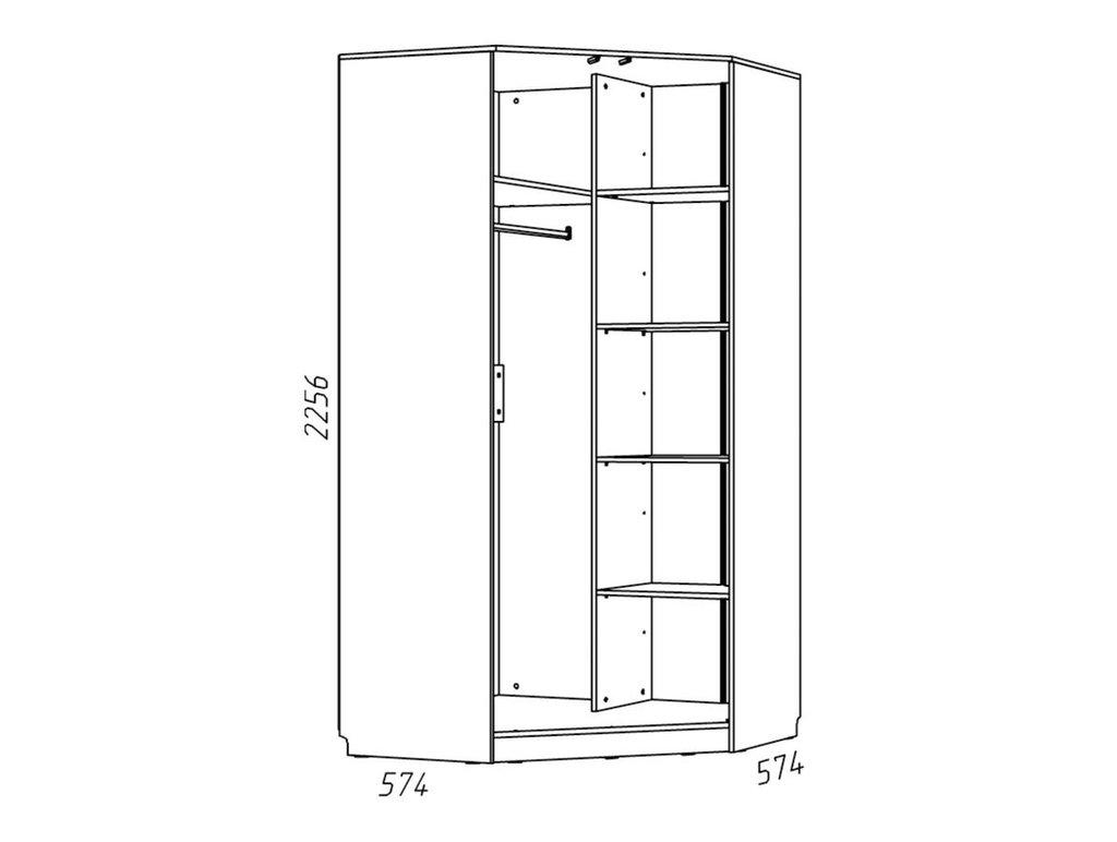 Детские шкафы и стеллажи: Шкаф угловой НМ 013.04-04 Фанк в Стильная мебель