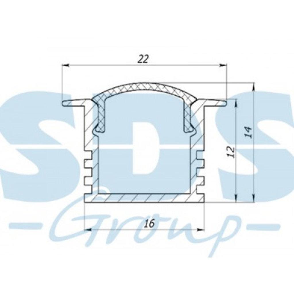 Алюминиевый профиль: Rexant Профиль врезной алюминиевый 2212-2, 2м, 146-221 в СВЕТОВОД