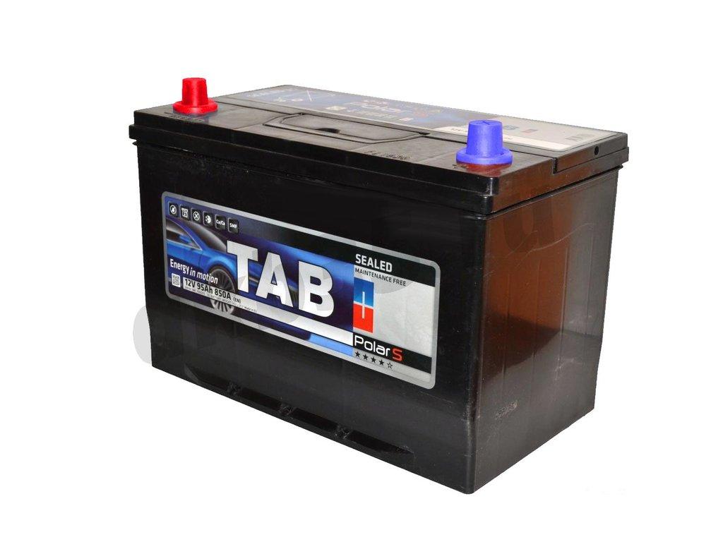 Аккумуляторы: TAB 6СТ-95 /П.П./ JIS MF ниж.крепление в Планета АКБ