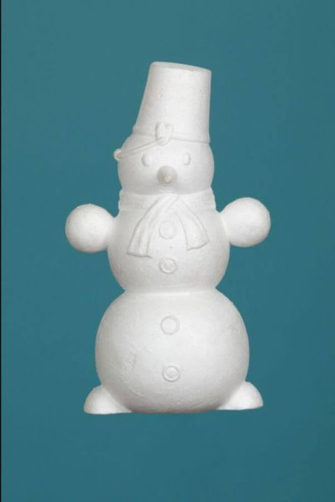 Пенопласт: Снеговик пенопласт, Размер - 28 см в Шедевр, художественный салон