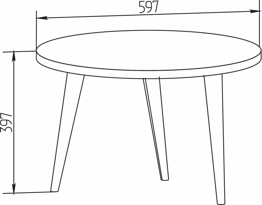 Журнальные и кофейные столики: Стол журнальный Норвуд 16 в Стильная мебель