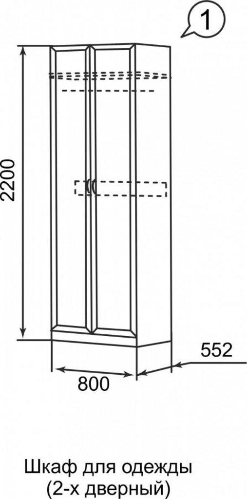 Шкафы для одежды и белья: Шкаф для одежды 2-х дверный 01 Брайтон в Стильная мебель