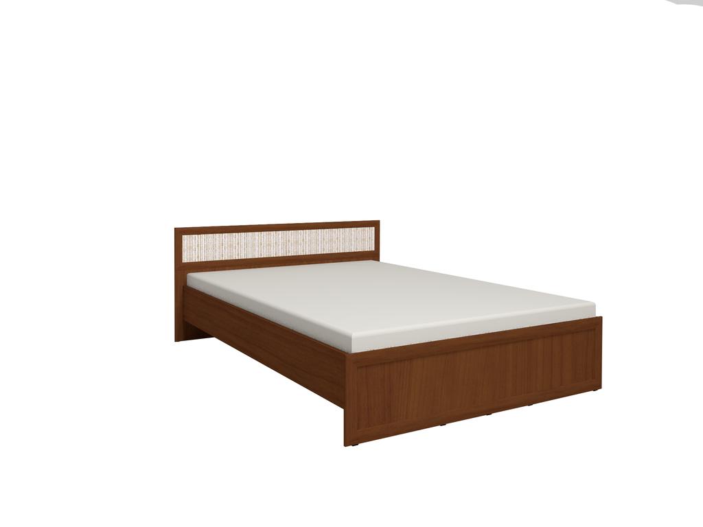 Кровати: Кровать Милана 2 (1400, орт. осн. дерево) в Стильная мебель