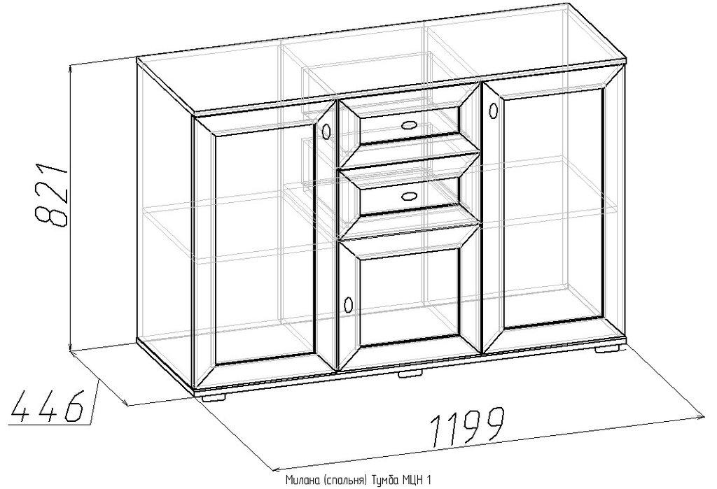Этажерки и тумбы: Тумба МЦН Милана 1 в Стильная мебель