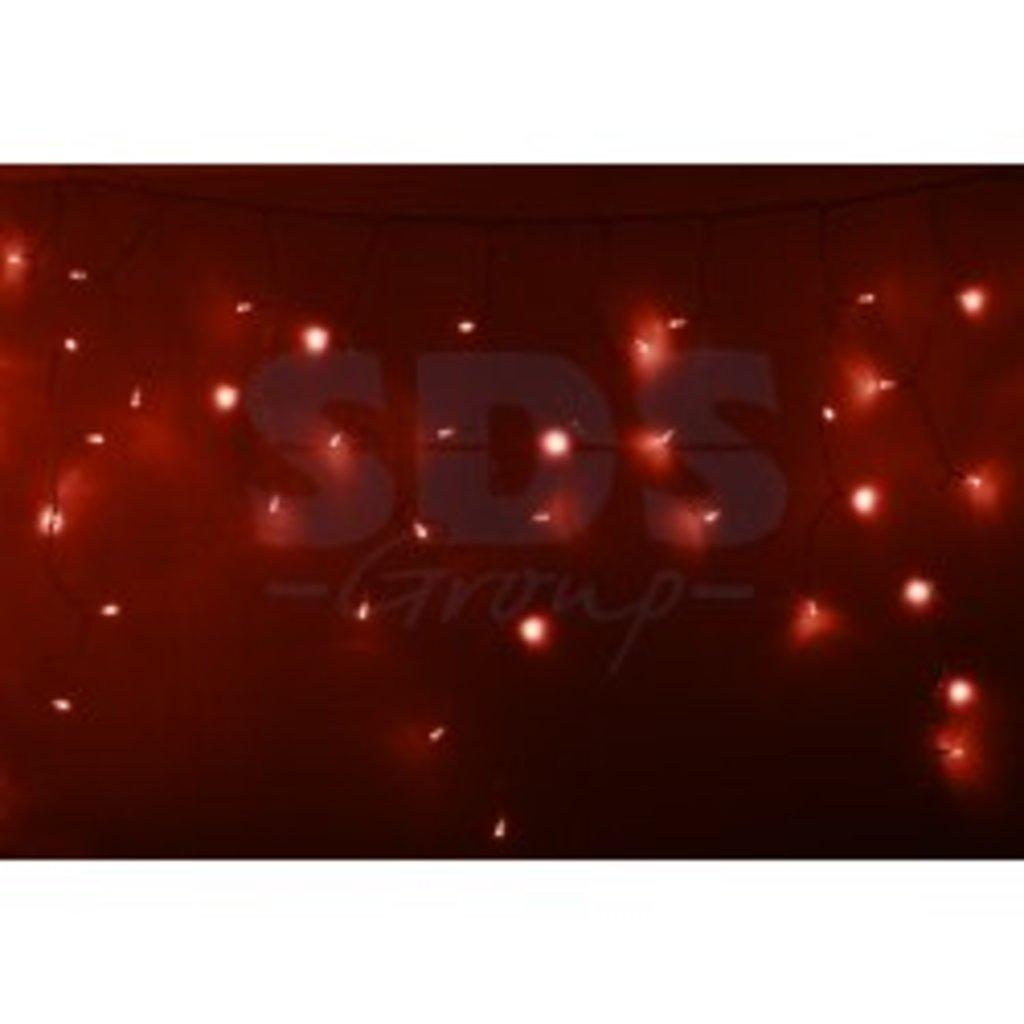 Светодиодная бахрома: Гирлянда Айсикл (бахрома) светодиодный, 4,8 х 0,6 м, прозрачный провод, 220В, диоды красные, NEON-NIGHT в СВЕТОВОД