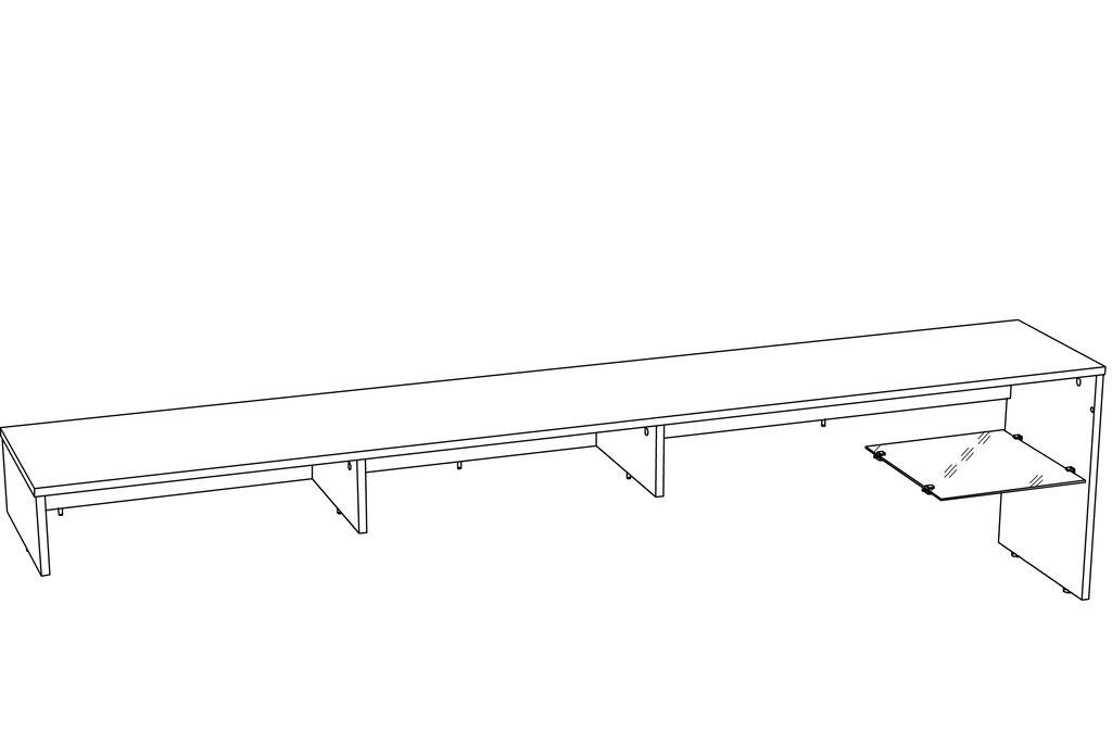 Тумбы и стойки под телевизор и аппаратуру: Надстройка для тумбы ТВА LIVORNO НМ 011.33-02 в Стильная мебель