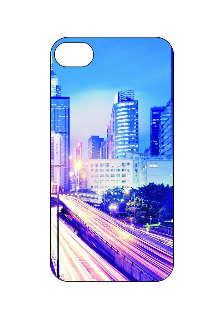 Выбери готовый дизайн для своей модели телефона: Город в NeoPlastic