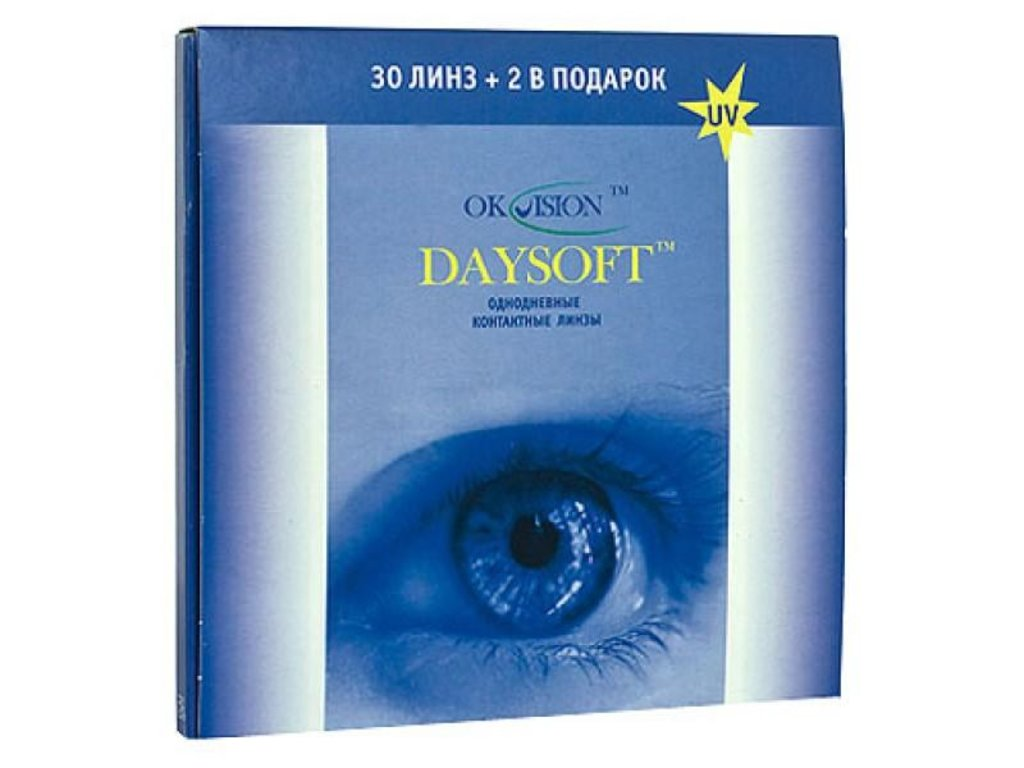 Контактные линзы: Контактные линзы Daysoft однодневные (30шт / 8.6) Ok Vision в Лорнет