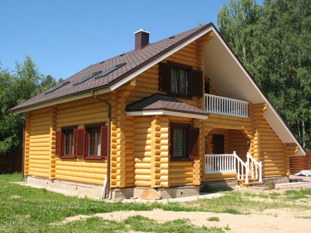 Строительство: Дом из оцилиндрованного бревна (черновой вариант) в А-Строй