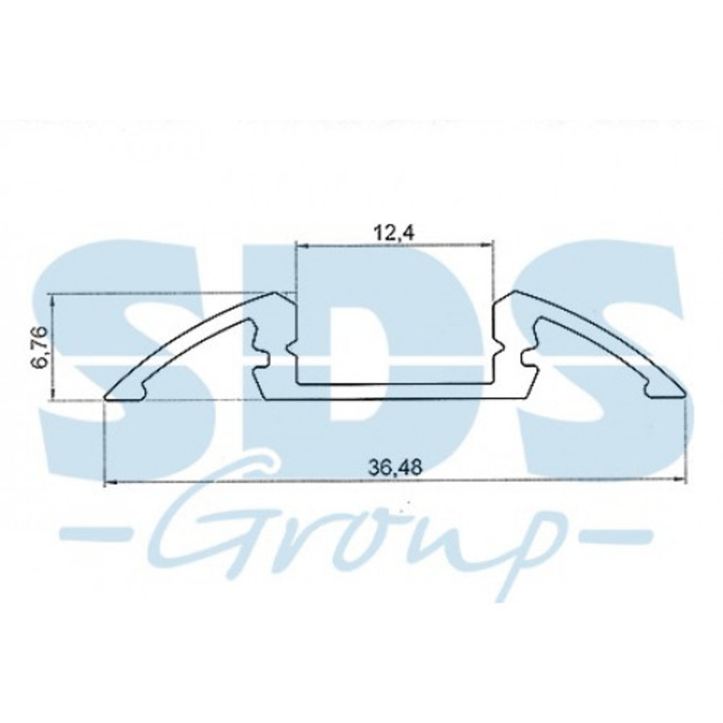 Алюминиевый профиль: Rexant Профиль для порогов алюминиевый 3606-2, 2м, 146-239 в СВЕТОВОД