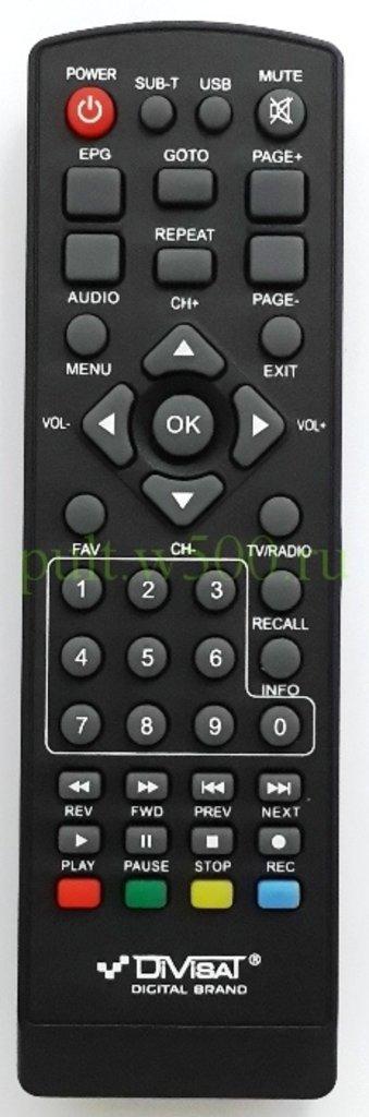 DiVisat: Пульт Divisat  HOBBIT UNIT LD, IRON BOX (DVB-T2) оригинал в A-Центр Пульты ДУ