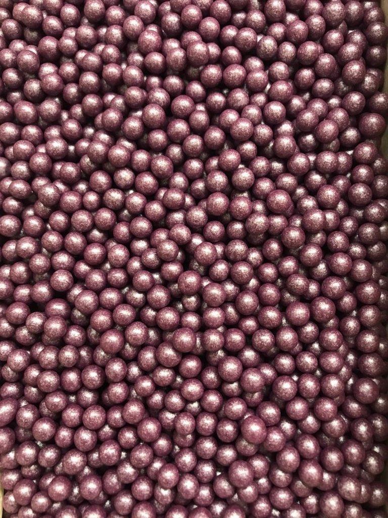 Посыпки декоративные: Посыпка Драже зерновое Жемчуг сиреневый 6-8мм 100г в ТортExpress
