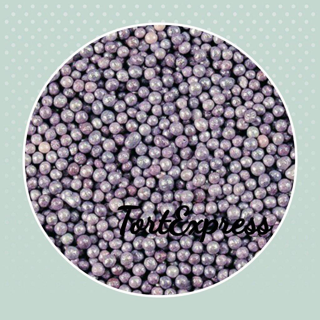 Посыпки декоративные: Шарики Лиловые перламутровые (2 мм) в ТортExpress