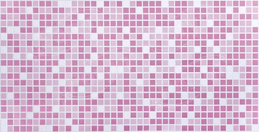 Панели ПВХ: Мозаика Розовый микс в Мир Потолков