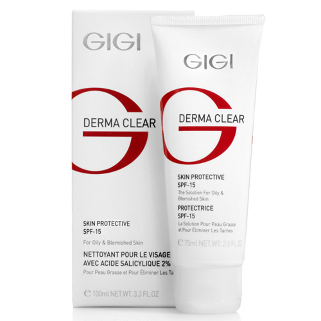 Крема: Крем увлажняющий защитный SPF 15 / Cream Protective SPF-15, Derma Clear, GiGi в Косметичка, интернет-магазин профессиональной косметики
