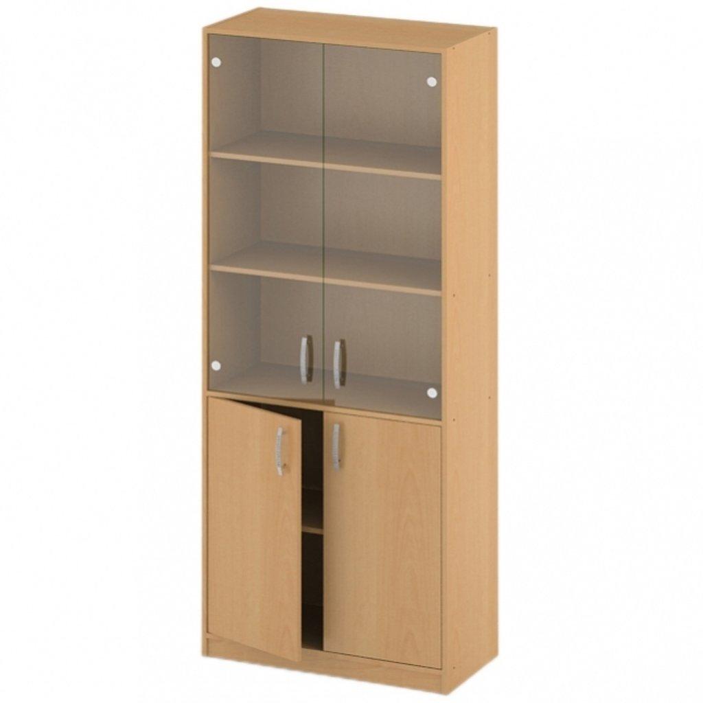 Офисная мебель пеналы, шкафы Р-16: Шкаф для документов стекло прозрачное (16) 1840*720*380 в АРТ-МЕБЕЛЬ НН