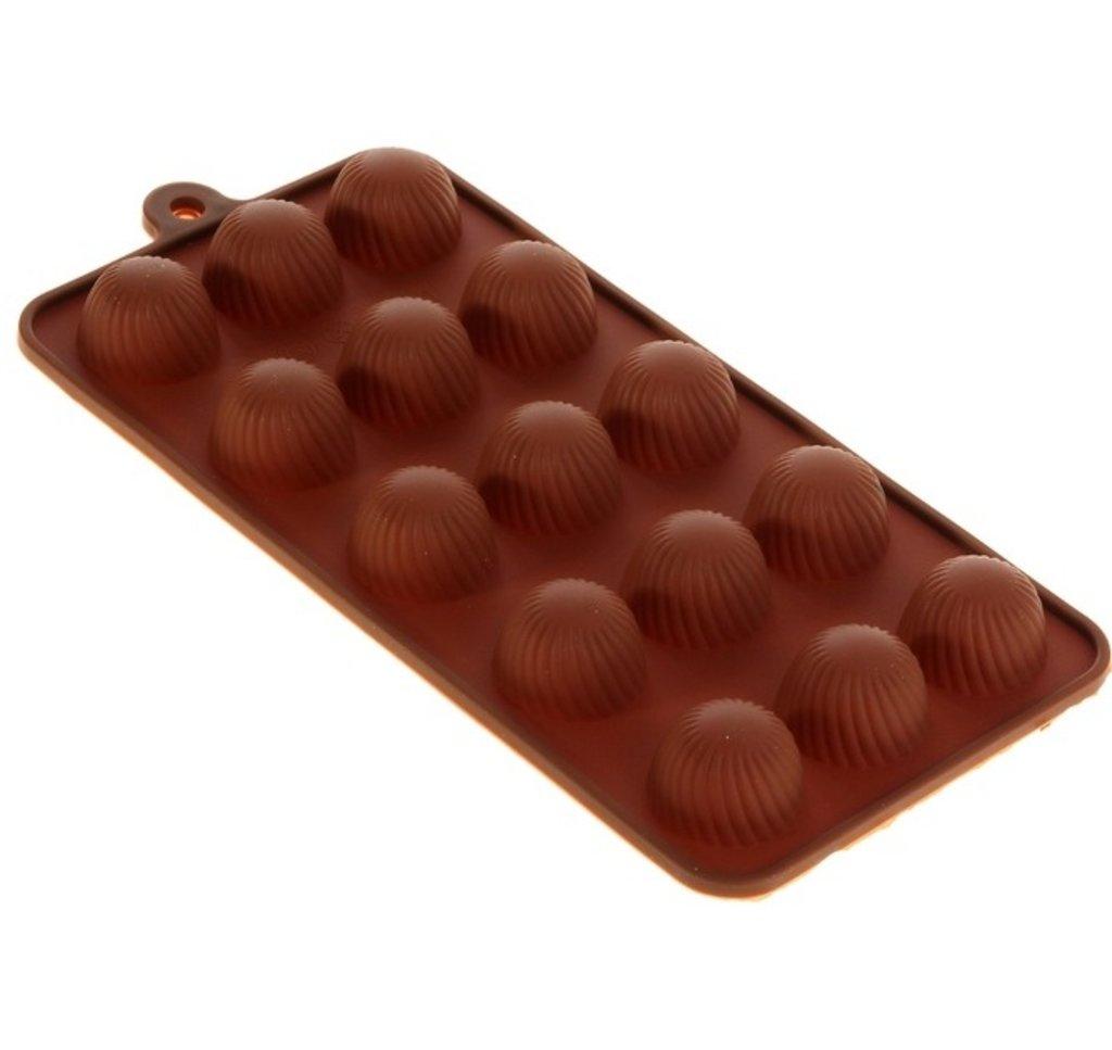 """Молды силиконовые, формы пластиковые: Форма для льда и шоколада, 21х10 см """"Шарики"""", 15 ячеек в ТортExpress"""