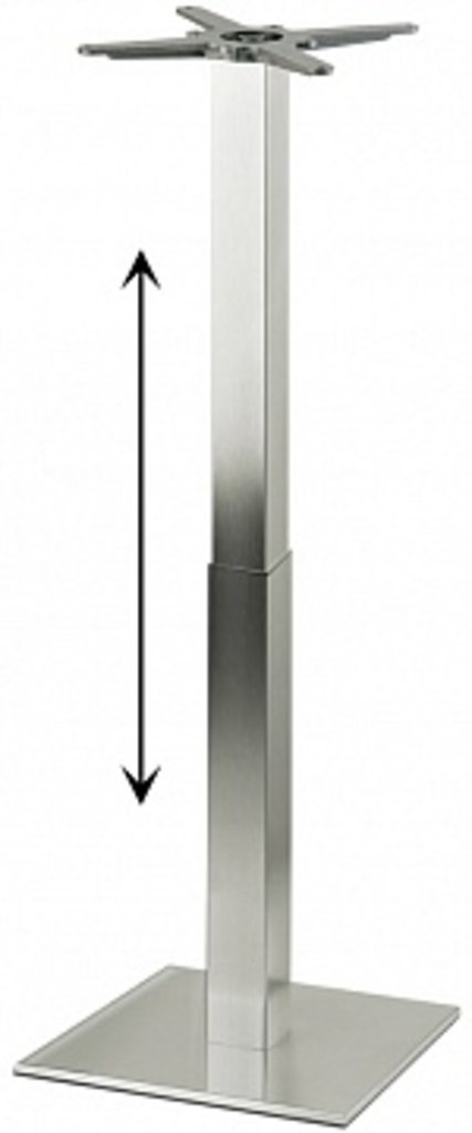 Подстолья.: Подстолье регулируемое 1265EM (нержавеющая сталь матовое) в АРТ-МЕБЕЛЬ НН
