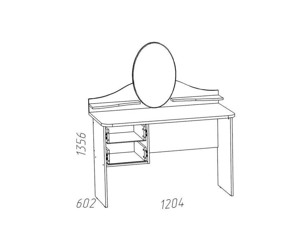 Туалетные столики и консоли: Стол туалетный 2-01 НМ 011.09-01 Прованс в Стильная мебель