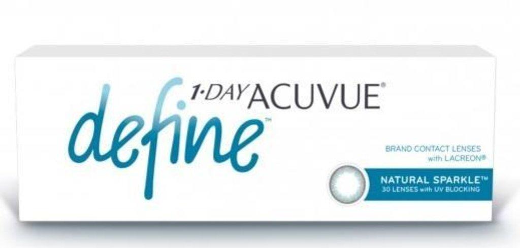 Контактные линзы: Контактные линзы 1-Day Acuvue Define With Lacreon Sparkle (30шт / 8.5) Johnson & Johnson в Лорнет