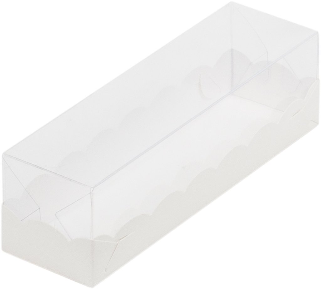 Коробки для макарон: Коробка для макаронс с пластиковой крышкой 190*55*55 мм в ТортExpress