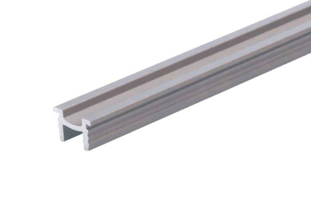 Система раздвижных дверей LIVING BASE: Направляющая нижняя врезная, L=3000мм, отделка алюминий в МебельСтрой