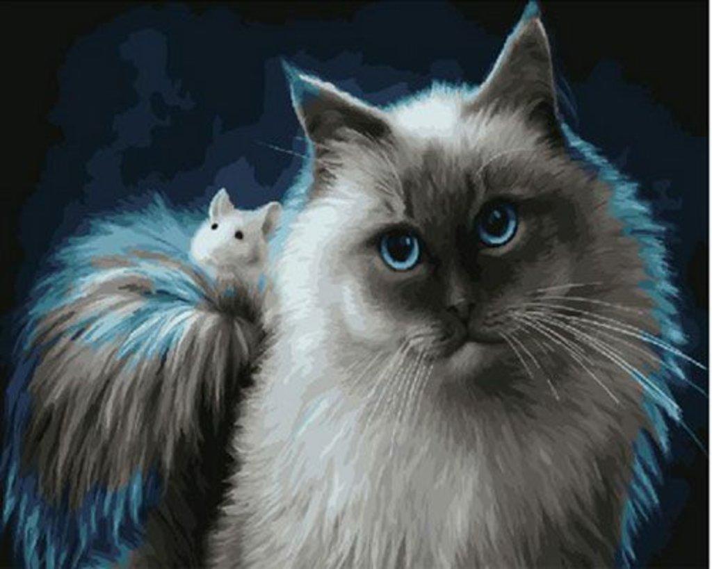 Картины по номерам: Картина по номерам Paintboy 40*50 Кот и мышонок GX29836 в Шедевр, художественный салон