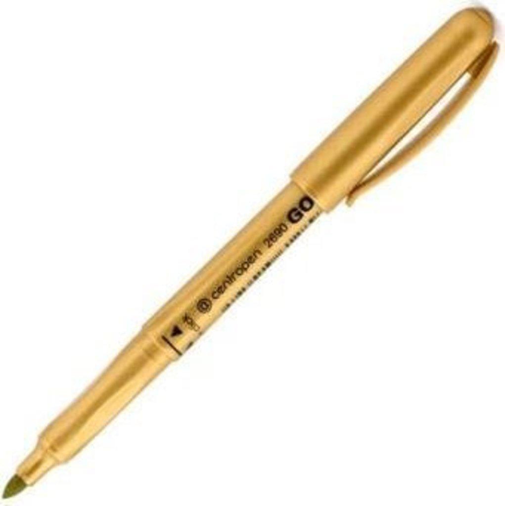 Маркеры, текстовыделители: Маркер золото 1,8 мм круг 2690 Centropen в Шедевр, художественный салон