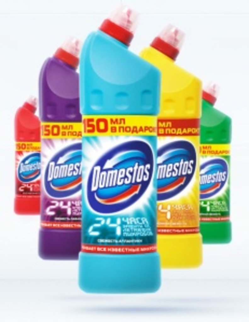 Средства  для мытья сан.узлов: Доместос для сантехники в ХимМаркет, склад бытовой химии и хозинвентаря