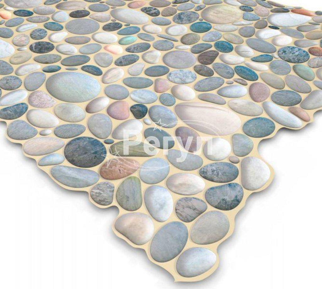 Панели ПВХ: Камень Галька голубая в Мир Потолков