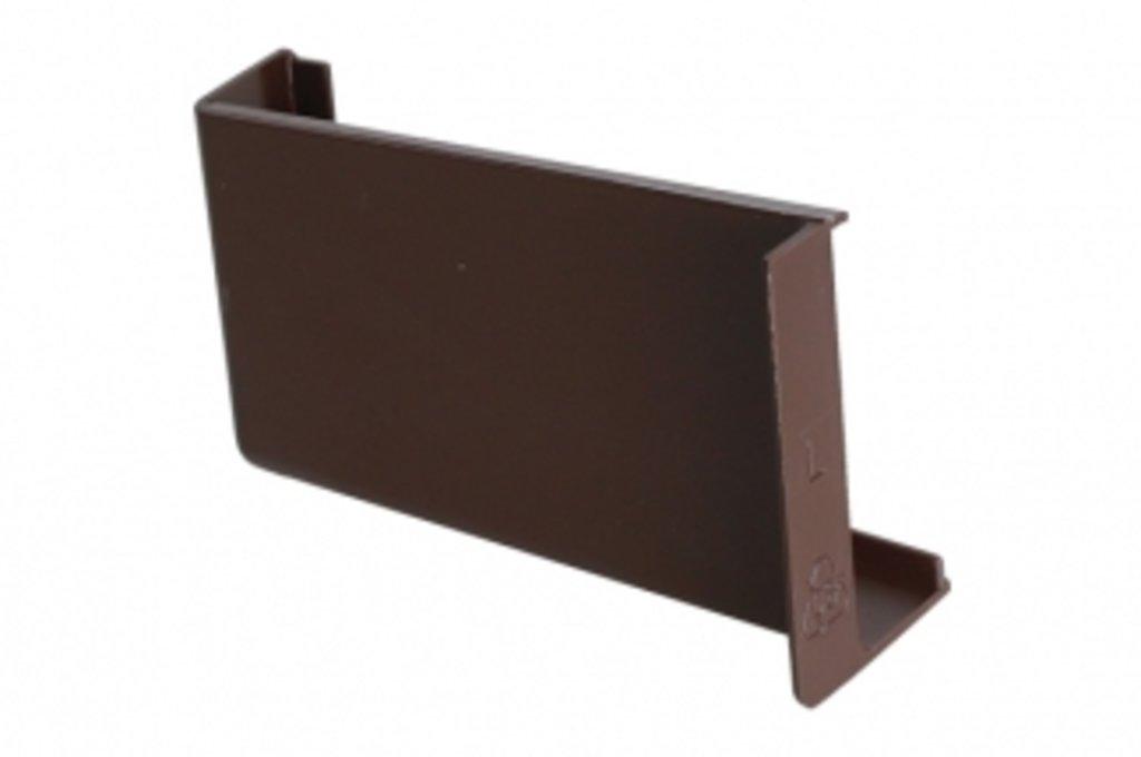 Подвеска полок: Крышечка декоративная для подвески арт.806 коричневая, левая в МебельСтрой