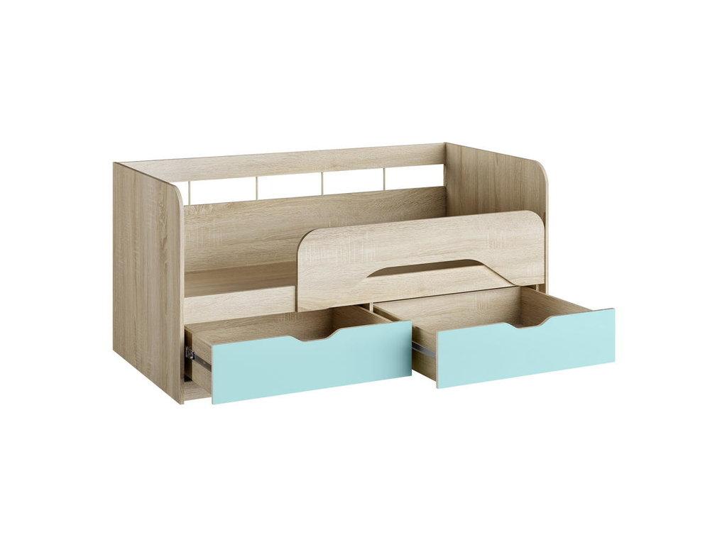 Детские и подростковые кровати: Кровать НМ 039.03 Акварель (800х1600, усилен. настил) в Стильная мебель