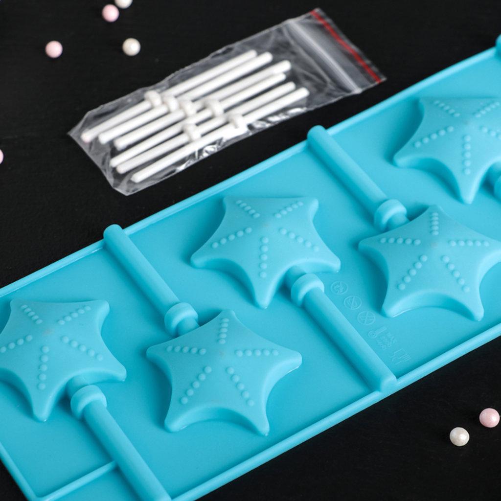 Кондитерский инвентарь: Форма для леденцов и мороженого Звездочет 6 ячеек в ТортExpress