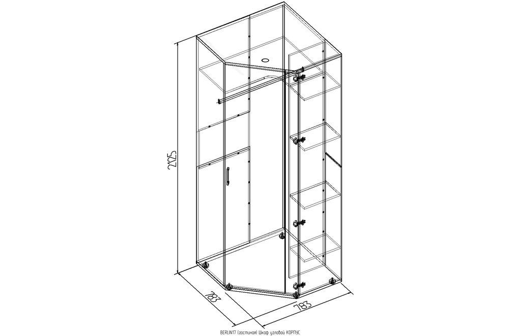 Шкафы, общие: Шкаф угловой BERLIN 17 в Стильная мебель